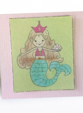 Greeting Cards Enclosure Card - Mermaid