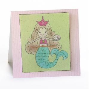 Greeting Cards Enclosure Card - Mermaid