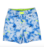 Shade Critters Swim Trunks - Blue Tie Dye Shark