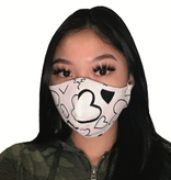 Face Mask PKP Face Mask Adult -  Hearts