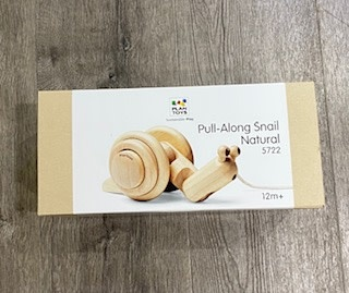 Plan Toys Pull Along Snail - Natural 5722