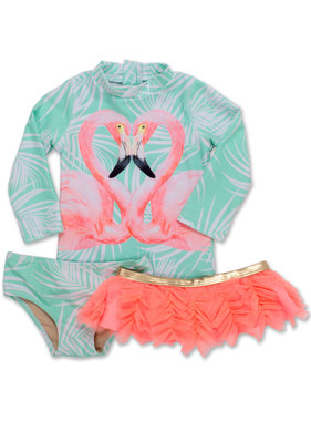 Shade Critters 3 PC Rashguard Set Flamingo Mint SG02B-050