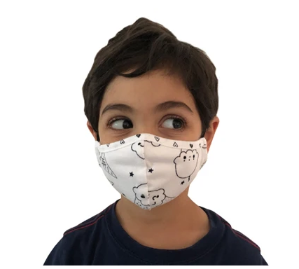 Face Mask PKP Kids Face Mask- Black
