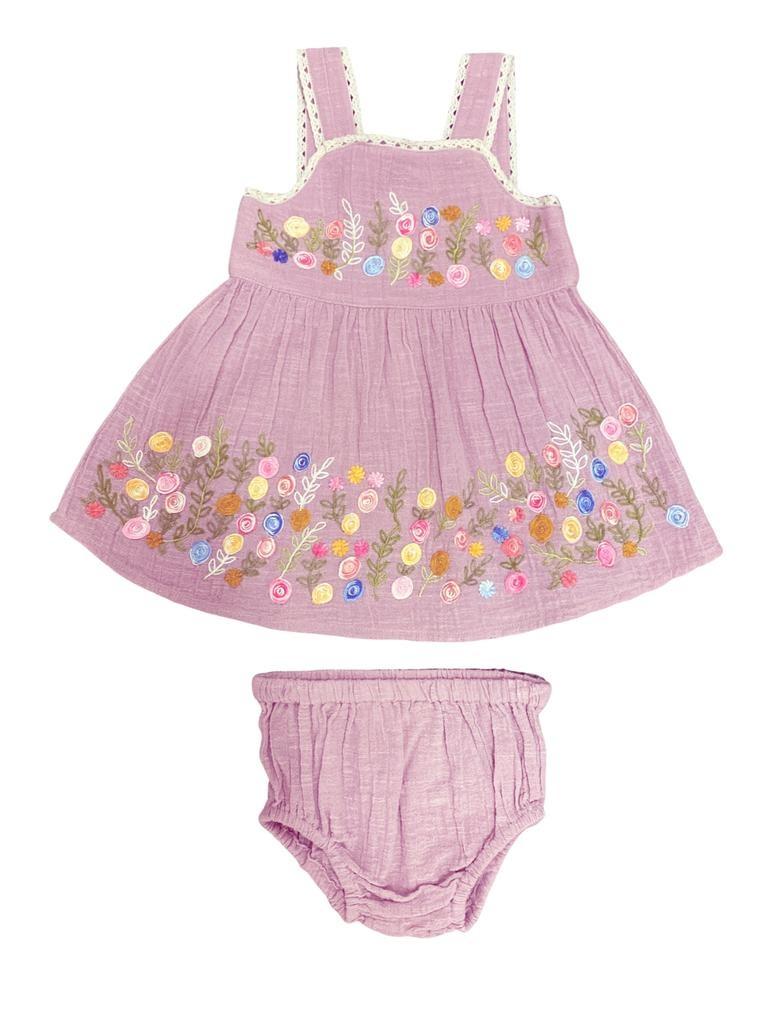 Mimi & Maggie 80480 Wildflower Garden Dress Lav