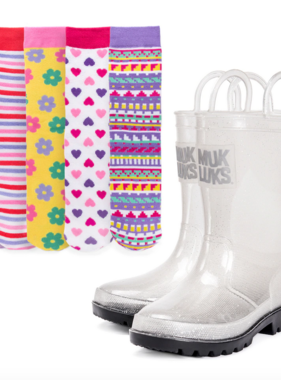 Muk Luk Set Molly Rainboot Pattern