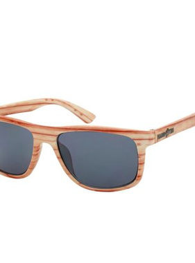 Hang Ten Wood Look Polycarbonate UV400 Classic Sunglasses HTK08H