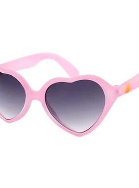 Hang Ten Pink Polycarbonate UV400 Heart Sunglasses HTK04B