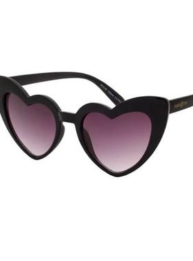 Hang Ten Black Polycarbonate Hang Ten Kids UV400 Heart Sunglasses