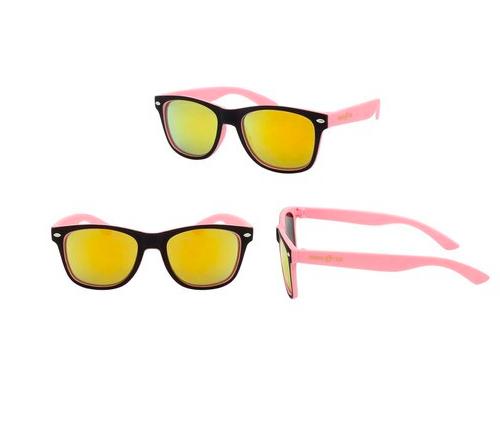 Hang Ten Black Neon Pink Color Soft Finish Polycarbonate UV400 Classic Sunglasses HTK20A