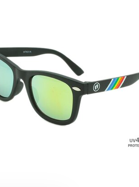 Hang Ten Black Polycarbonate UV400 Classic Baby Sunglasses HTK01A