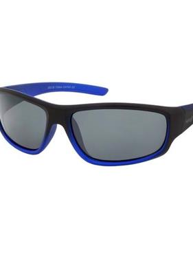 Hang Ten Matte Black Blue Metallic Polycarbonate UV400 Sport Sunglasses HTK19B