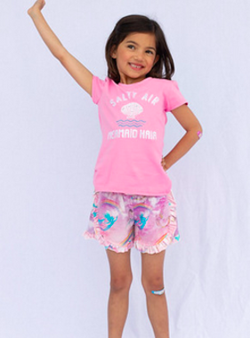 Haven Girl Ruffle Short Mermaid 88A526K19