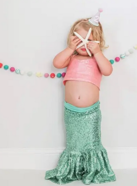 Carken Design Sequin Mermaid Skirt-Mint