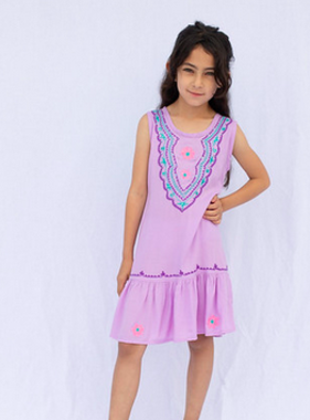 Haven Girl Ruffle Dress Orchid 88A851K19