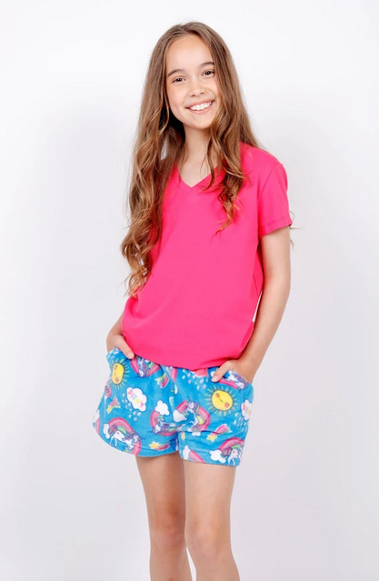 Candy Pink S20415 Short Dream Blue