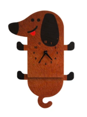 Modern Moose Wiener Dog Pendulum Clock 103