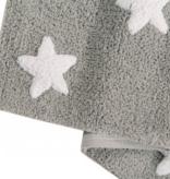 Lorena Canals C-G-SW Stars Grey - White