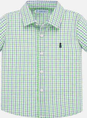 Mayoral 1158 10 Neon apple Check s/s shirt