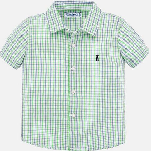 Mayoral 1158 10 Neon apple Check s/s shirt