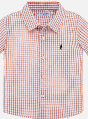 Mayoral 1158 11 mango Check s/s shirt