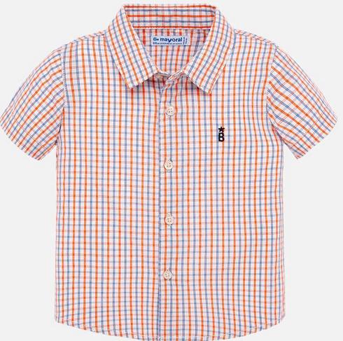 Mayoral 1158 11 mango Check s/s shirt
