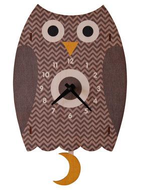 Modern Moose Owl Pendulum Clock **PREORDER