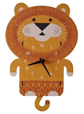 Modern Moose Lion Pendulum Clock PCPEN017 **PREORDER