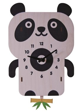 Modern Moose Panda Pendulum Clock PCPEN027 **PREORDER