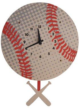 Modern Moose Baseball Pendulum Clock PCPEN047 **PREORDER