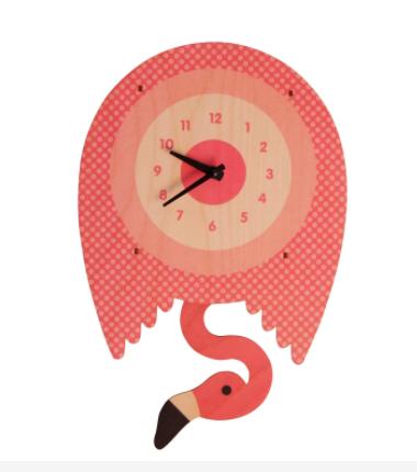 Modern Moose Flamingo Pendulum Clock 067