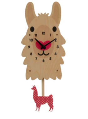 Modern Moose Llama Pendulum Clock **PREORDER