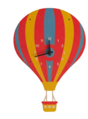 Modern Moose Hot Air Balloon Pendulum Clock PCPEN068 **PREORDER