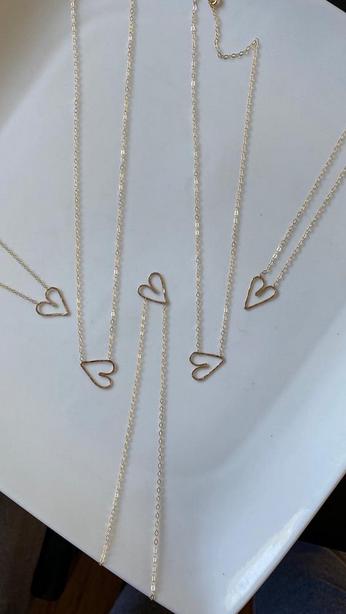 Edina Kiss Heart Necklace