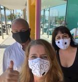 Face Mask PKP Adult Face Mask-Black Denim