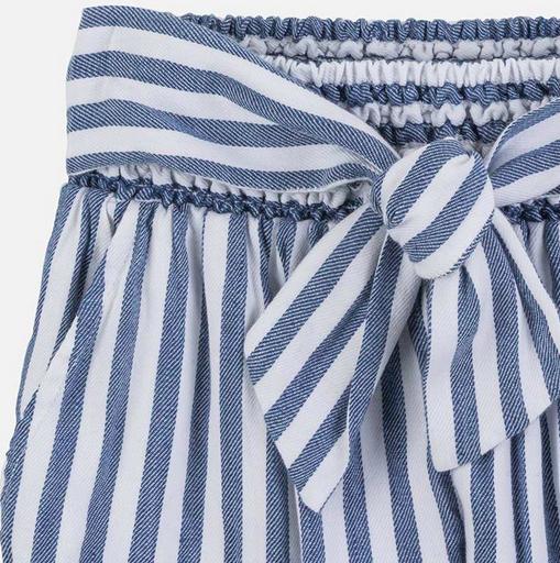 Mayoral 6534 19 blue Linen striped pants
