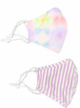 Face Mask SHCR-MULTI TIE DYE / LILAC STRIPE 2PK FACE MASK SET
