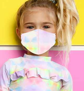 Face Mask SHCR-MSK-102 BLUE / PINK TIE DYE  2PK Kids Face MASK SET