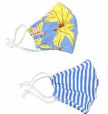 Face Mask SHCR-143 BANANAS /  BLUE STRIPE 2PK ADULT MASK SET