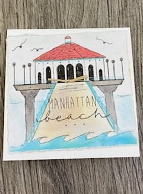 Greeting Cards Enclosure Card - Manhattan Beach Pier