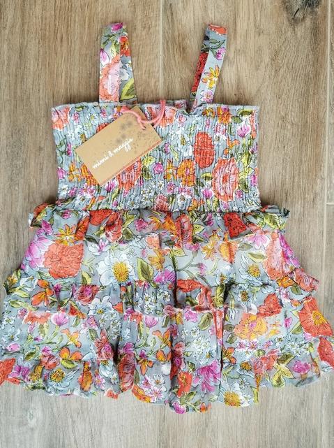 Mimi & Maggie 80467B Devon Dress Diaper/Cover Multi
