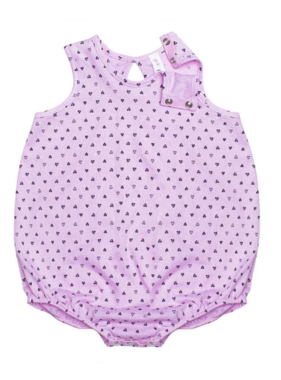 4022 Bubble Onesie Confetti Heart PInk