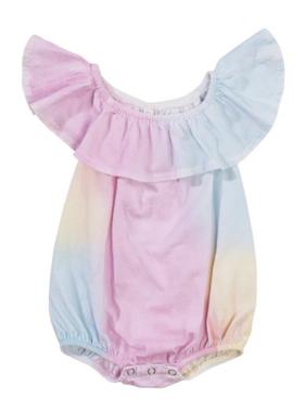 Bella Beach Kids 4232 Ruffle Onesie Tie Dye