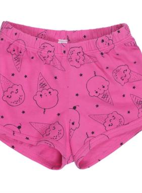 Bella Beach Kids 4007 Track Shorts-Ice Cream Smiles Hot Pink