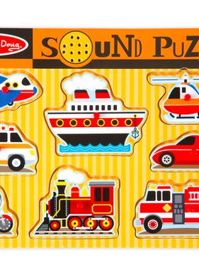 Melissa & Doug Vehicles Sound Puzzle 725