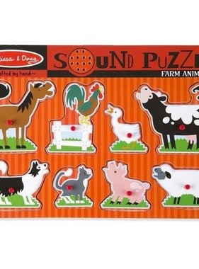 Melissa & Doug Puzzle Farm Animals Sounds 726