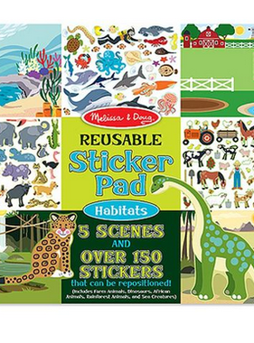 Melissa & Doug 4196 Reusable Sticker Pad-Habitats N