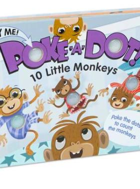 Melissa & Doug POKE-A-DOT: 10 LITTLE MONKEYS 31345