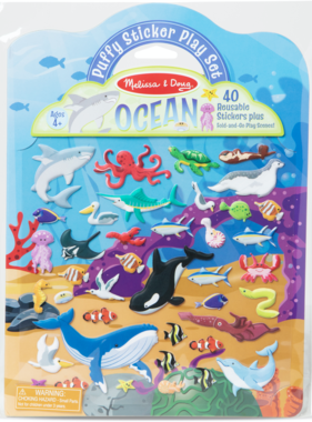 Melissa & Doug Puffy Sticker Play Set- Ocean 30520