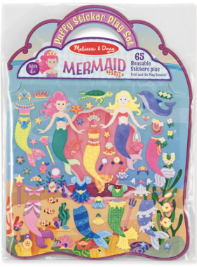 Melissa & Doug Puffy Sticker Play Set - Mermaid 9413