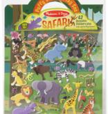 Melissa & Doug Safari Reusable Puffy Sticker Play Set 9106